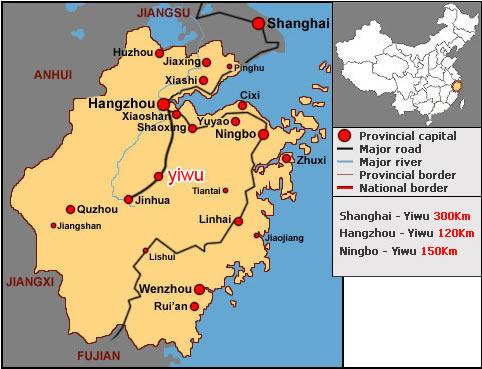 Carte Chine Yiwu.Yiwu China Map Woestenhoeve